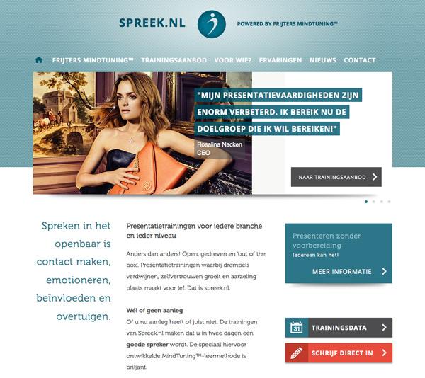 Spreek.nl website
